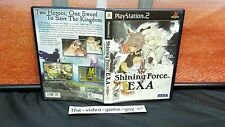 Shining Force EXA (Sony PlayStation 2 PS2, 2007) COMPLETE CIB RPG