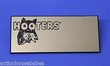 HOOTERS RESTAURANT GIRL BLANK GOLD NAME TAG -  Waitress Pin