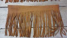 leather Fringe / Deer hide  tobacco color Fringe / lot of  Fringe