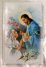 Catholic First Communion Gift Set Book Rosary Scapular Lapel Pin With Case NEW