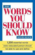 The Words You Should Know: 1200 Essential Words Every Educated Person Should Be