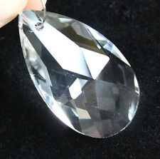 10 LOT Clear Crystal Glass Prisms 2'' Chandelier Lamp Part Repair Teardrop WX50