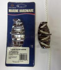 "The Original Chrome 3 1/4"" Gripper Zig Zag Metal Boat Cleat up to 3/8"" Rope G839"