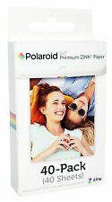 Polaroid 2x3 Premium ZINK PHOTO PAPER 40 Shts SNAP Z2300 Zip Printer Instant Cam