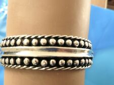 STERLING SILVER vintage MEXICAN HINGED BANGLE BRACELET TAXCO HALLMARKS