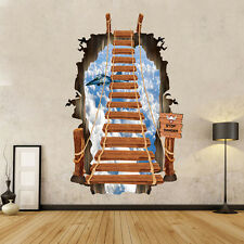 3D Window View Scaling ladder Removable Wall Sticker Art PVC Decal Decor Mural