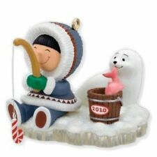 HALLMARK  2010 ~ FROSTY FRIENDS   31ST IN THE SERIES  ESKIMO FISHING  with SEAL