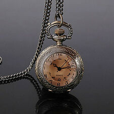 DBS Womens Girls Pendant Quartz Pocket Necklace Watches Montres penden​tif Reloj