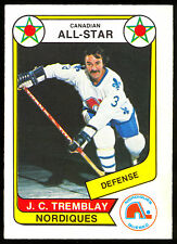 1976-77 OPC WHA O PEE CHEE #62 J C TREMBLAY NM A S QUEBEC NORDIQUES HOCKEY CARD