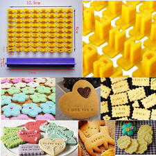 Number Alphabet Letter Biscuit Cookie Cutter Press Stamp Embosser Cake Mould