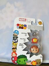 MARVEL TSUM TSUM 3 CHARACTER COLLECTOR SET ANT-MAN, IRON MAN BLACK WIDOW NOC