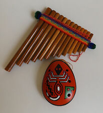 "13 Pipes Pan Flute 5""W X 6 1/4""L & Ceramic Scorpion Ocarina For Beginners"