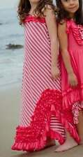 NWT Boutique Loves Me Not Clothing Coral Pink Jersey Knit Coral Maxi Dress 8 Yrs