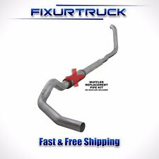 "Diamond Eye 5"" Turbo Back Exhaust For 99.5-03.5 Ford  7.3L F250 F350 No Muffler"