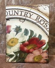 Sid Dickens Memory Block Retired T143 Country Roses (New)