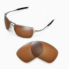 New Walleva Polarized Brown Replacement Lenses For Oakley Inmate Sunglasses