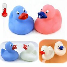 Mini Rubber Duck Baby Bathing Bath Tub Fun Float Temperature Color Chang Kid Toy