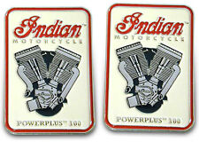 Set-of-2 Indian Motorcycle 'PowerPlus 100' Lapel Pins Collectible +FREE SHIP!