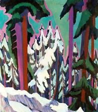 Verschneite Tannen Ernst Ludwig Kirchner Schnee Berg Einsamkeit H A3 0078