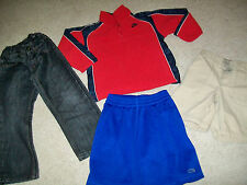 LOT OF 4 BOYS SIZE 4/4T FLEECE PULLOVER JEANS & SHORTS NIKE C9 CARTERS PAPER