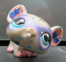 Littlest pet shop mouse # 104 custom hand painted and embellished super hero