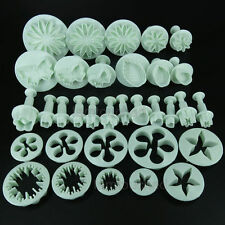 33pcs Sugarcraft Fondant Icing Plunger Cutters Tool Cookie Cake Decorating Mould