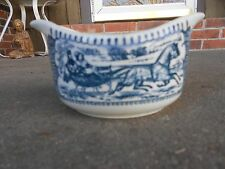 Royal China Currier Ives GRAVY BOAT/BOWL Sleigh Ride Blue