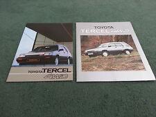 1984 TOYOTA TERCEL 4WD ESTATE UK 26 PAGE BROCHURE + LARGE COLOUR OUTER FOLDER