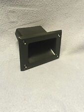 BLACK PLASTIC DJ SPEAKER BOX CABINET INSET POCKET HANDLE 88mm x 135mm