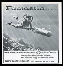 1961 Sea Tow Guppy scuba diving diver propulsion photo vintage print ad