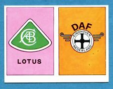 AUTO FLASH - Ed.COX - Figurina/Sticker n. 193+181 - LOTUS + DAF -New