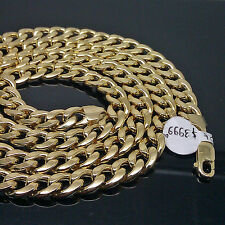 "10K Yellow Gold Miami Cuban Chain 8mm 24 inch"", Franco, Rope, Italian"