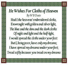 Celtic Obsessions He Who Wishes For The Cloth Of Heaven Cross Stitch Pattern