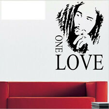 Hot Removable Wall Stickers BOB MARLEY ONE LOVE Background For Room Decals