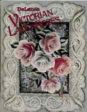 PAINTING  BOOK - DELAINES VICTORIAN LACE & ROSES by DeLane Lange