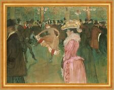 At the Moulin rouge: the Dance Henri de toulouse-lautrec paris danser B a3 02226