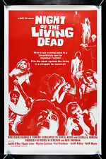 NIGHT OF THE LIVING DEAD CineMasterpieces ORIGINAL RED MOVIE POSTER ROLLED 1978R