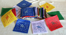 Tibetan Buddhist Prayer Flags -Wind Horse 9 x 9cm (10 flags)-1.2M Total Length