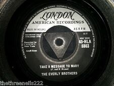 """VINYL 7"""" SINGLE - TAKE A MESSAGE TO MARY - THE EVERLY BROTHERS - 8863"""