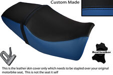 BLACK & ROYAL BLUE CUSTOM FITS YAMAHA XJR 400 DUAL LEATHER SEAT COVER ONLY