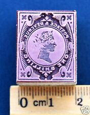 ENGLAND, 1 SHILLING, 1900, INK STAMP PRINTING PRESS BLOCK, MADE IN COPPER & WOOD