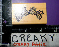 HOLLY BERRY SWAG BORDER RUBBER STAMP DARCIES F0931