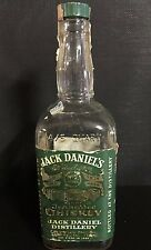 Vintage 1965 JACK DANIELS Green Label 4/5th Quart Lem Motlow Proprietor EMPTY