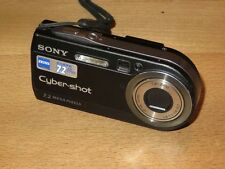 Sony Cyber-shot DSC-P150 7.2 MP Digital Camera - Black