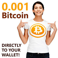0.001 Bitcoin (0,001 BTC) - Direct to your Wallet!
