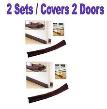 2 Window Door Stopper Dodger Dust Resisted Safety Protector Energy Saving
