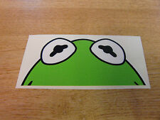 """Kermit the frog""  window  ""peeper""  decal -  sticker bomb"