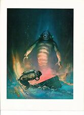 "1975 full Color Plate ""Sea Monster"" by Frank Frazetta Fantastic GGA"