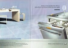 Publicité Advertising 037  2006  lave-vaiselle Siemens (2pages)