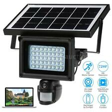 Solar Floodlight Street Lamp IR-CUT 720P HD DVR CCTV Security Camera EU K5B4